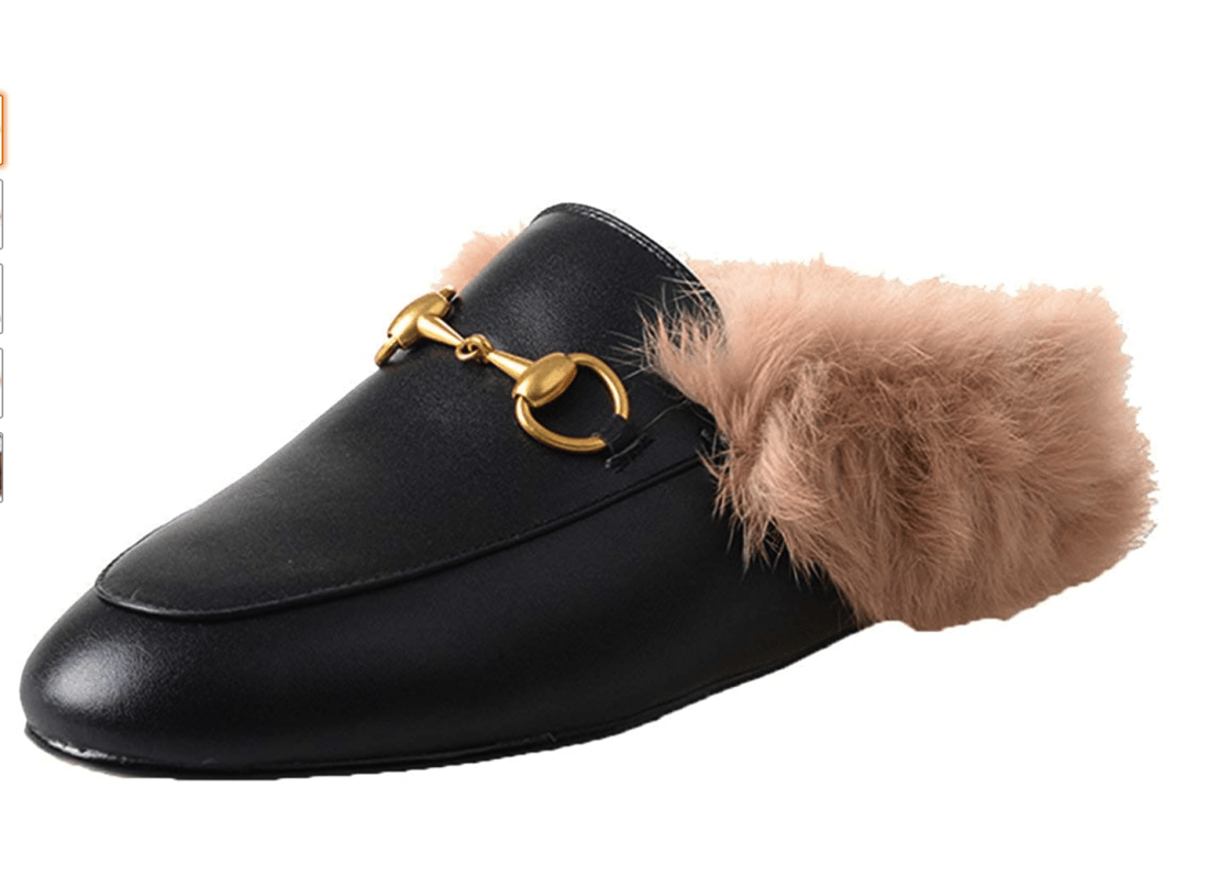Gucci inspired loafer mules