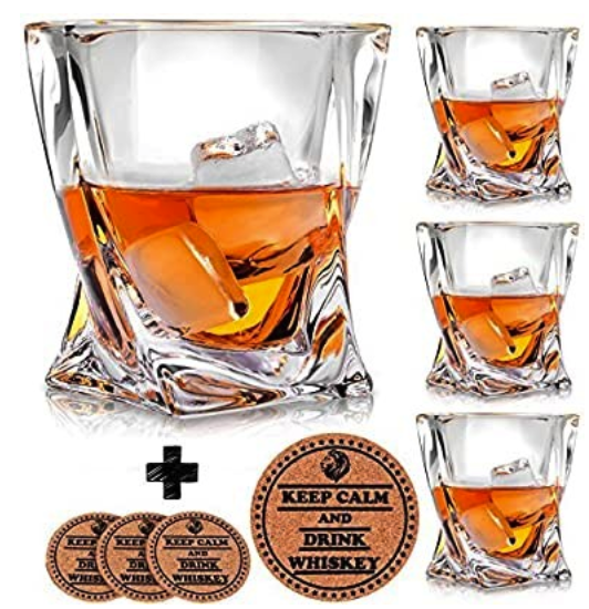 Stocking Stuffers for Men Under $25 - Whiskey Glasses and Coasters