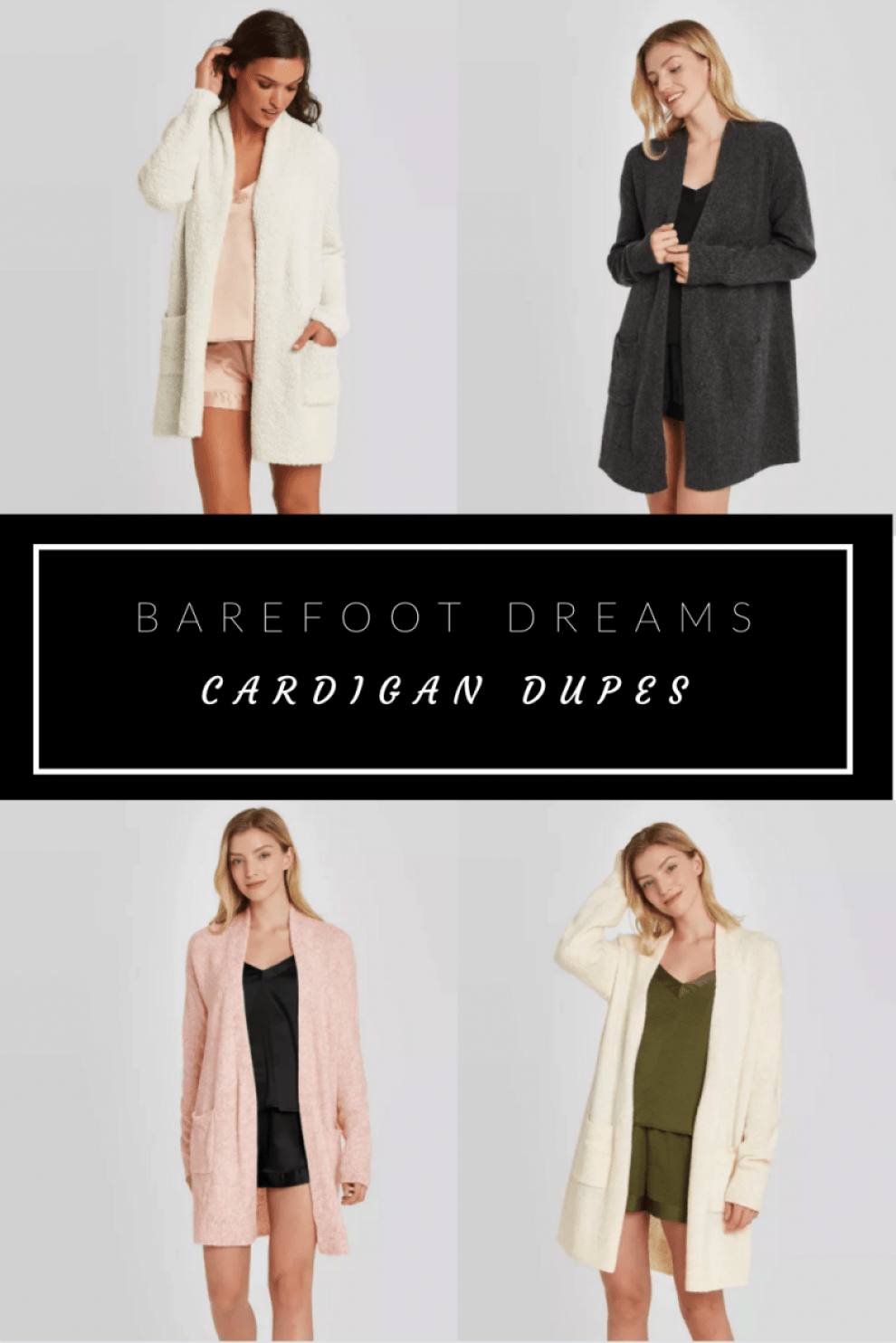 Barefoot Dreams Cardigan Dupes