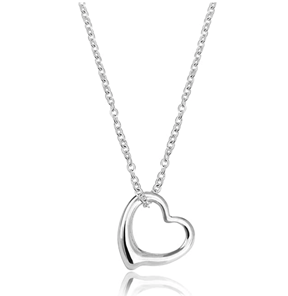 Tiffany and Co Open Heart Pendant Necklace Dupes
