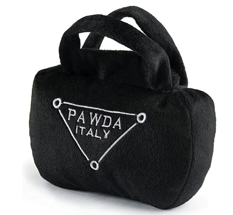 Designer Handbag Dog Toys, Pawda, Prada