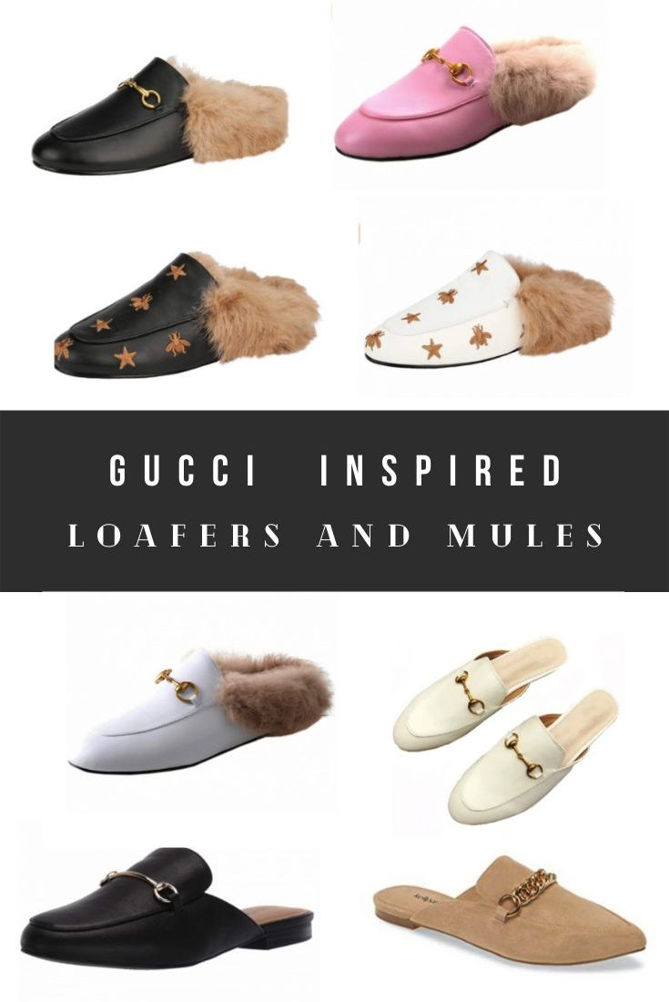 Cute Gucci Mules Dupes and Loafers Dupes With Faux Fur