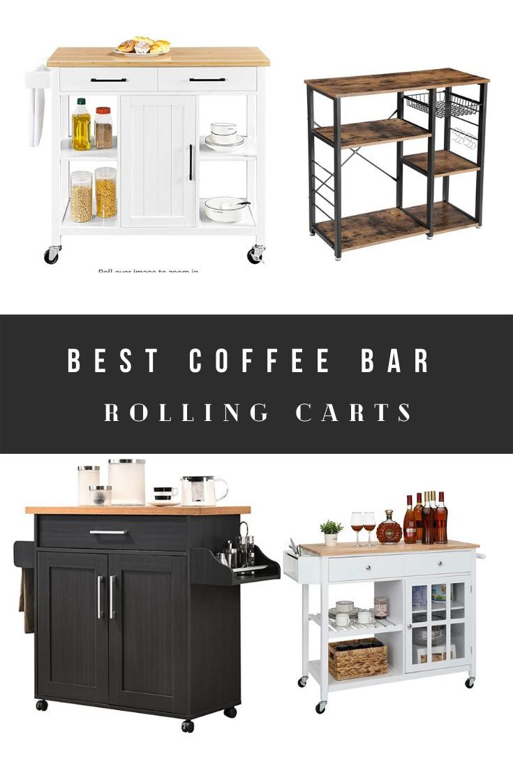 Best Coffee Bar Carts Ideas and Cheap Rolling Stations