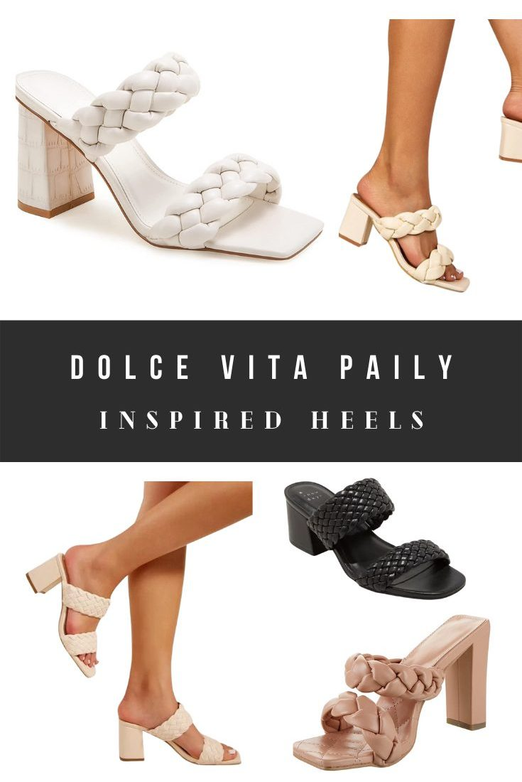 Braided Dolce Vita Paily Heels Dupes, Look Alikes, and Alternatives