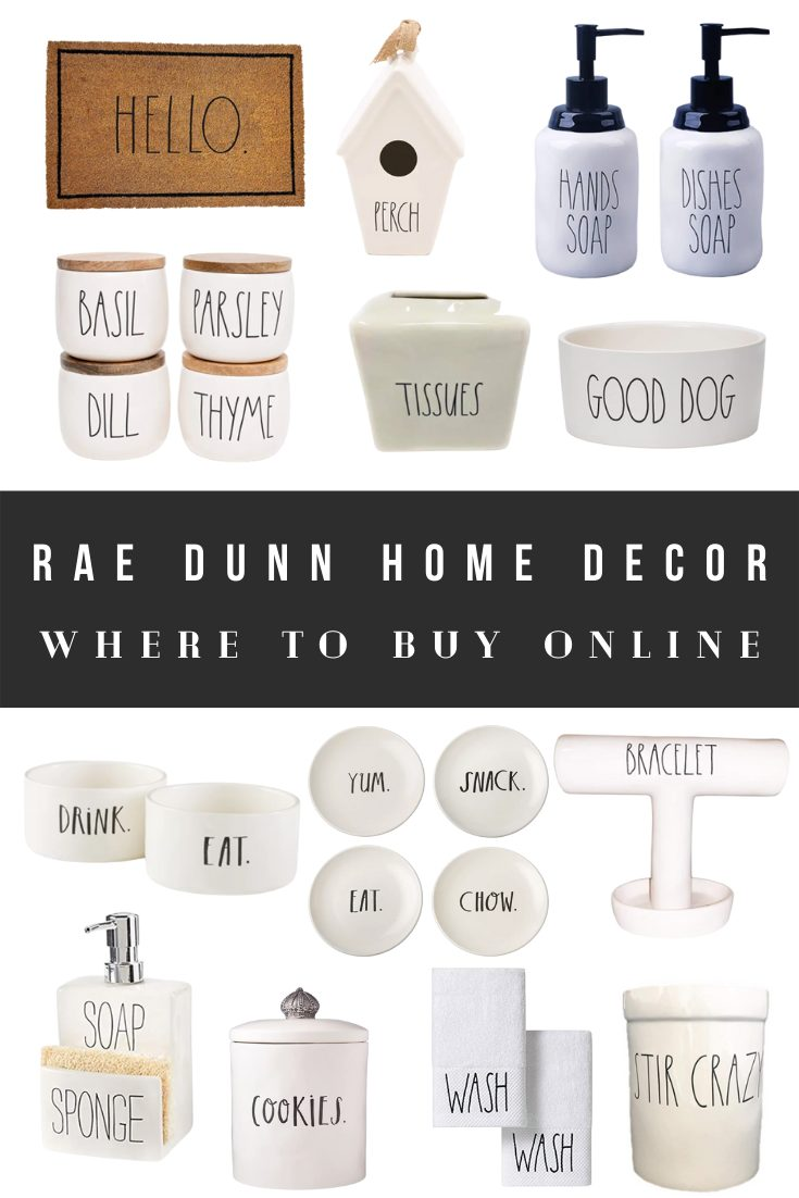 Where to Buy Rae Dunn Home Decor Kitchen Dishware Online