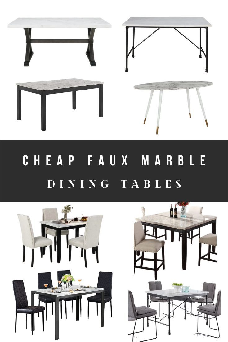 Fake and Faux Marble Coffee Tables