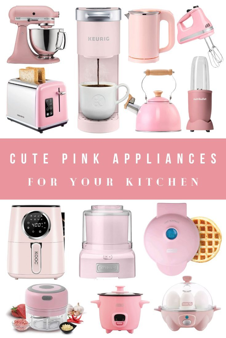 Cute Pink and Blush Kitchen Appliances and Decor