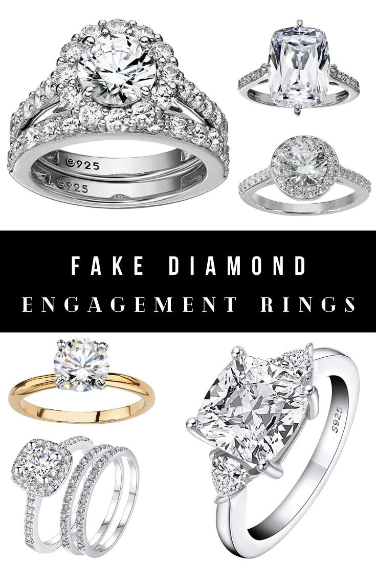 Best Fake Diamond Engagement Rings That Look Real and Won't Tarnish