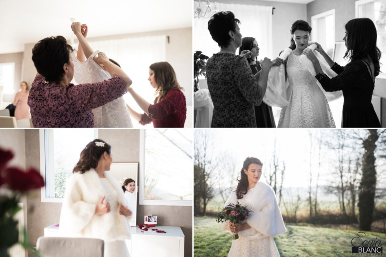 6 - se marier en hiver - mariage à rennes - Bretagne - manoir de la begaudiere - sonia blanc photographe