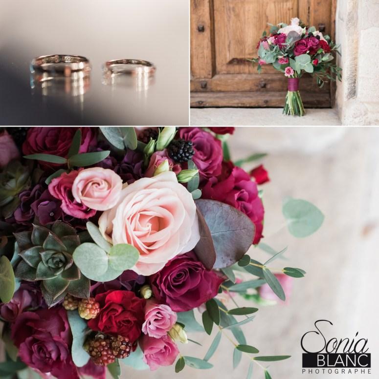 bouquet et alliance - mariage - beaune