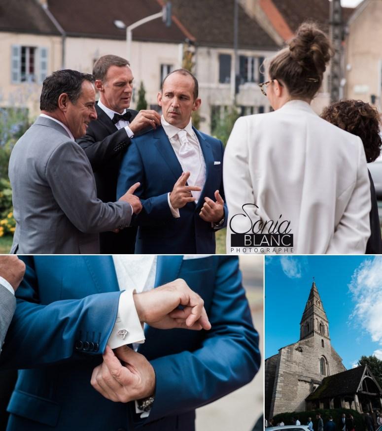 habillage bouton manchette mariage - beaune