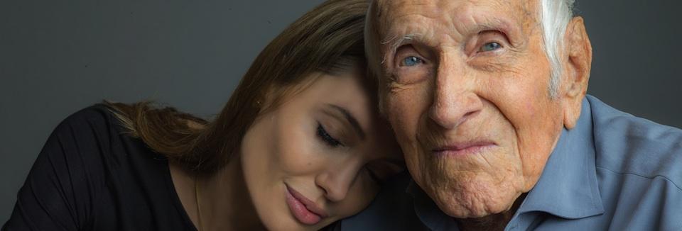 """Angelina Jolie y Louis """"Louie"""" Zamperini"""