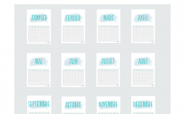 Calendrier organisation 2019 (Free printable)