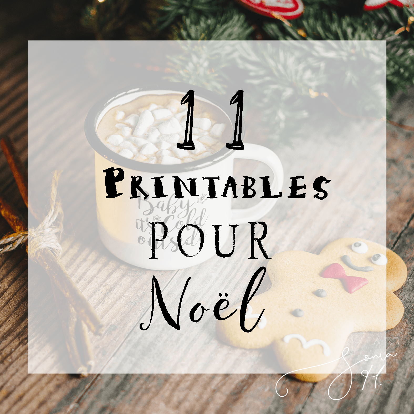 11 Printables pour Noël (Freebies Inside).