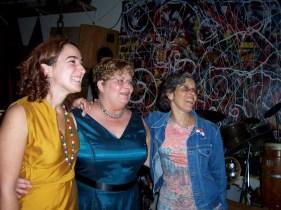 2008'XI. En la boda de Bunita Marcus, con ella y la hija de Morton Feldman