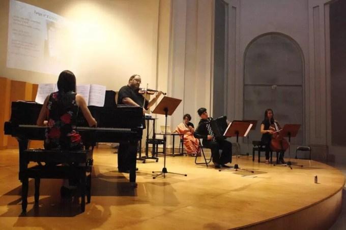 2010'VI'26. Concierto monográfico en Alcalá - María Silvera, Pablo Gastaminza, Teresa Manzanero y Laura Giménez, tocando 'Tango nº 2'