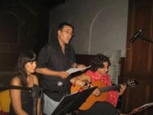 2010'VII'16, Oria. Concierto monográfico de mis canciones 'Darle luz al silencio' - con la soprano Laura Moyano y el poeta Paco Domene