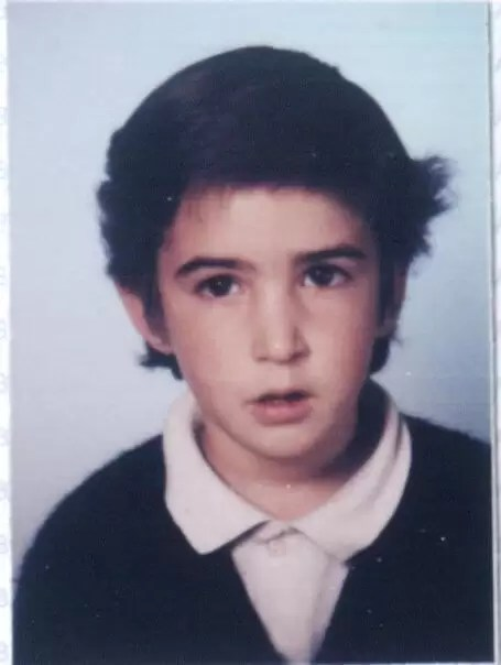 1986'IX. Con el uniforme del cole