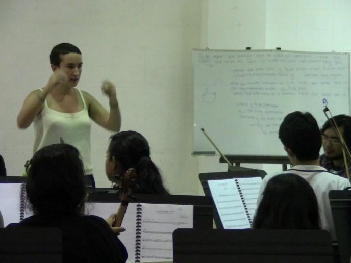 2012'VIII. El Salvador. Ensayando con la Orquesta Juvenil Nacional