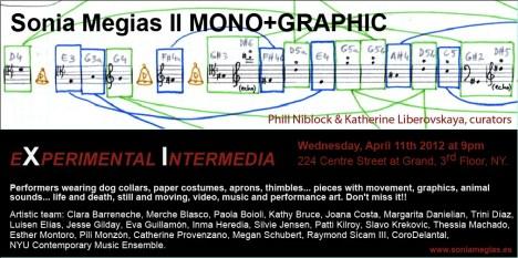 2012'IV'11. II MONO+GRAPHIC. 'Triangle' at Experimental Intermedia, NYC, Invitation