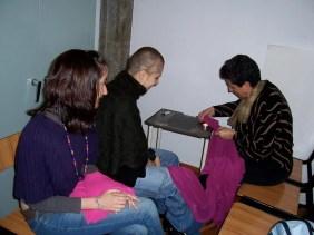 2008'X. Estreno de 'LBaila' - Estela, Pili y Souad con las túnicas