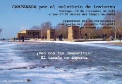 2016'XII'18. Madrid. Campanada por el solsticio de invierno - cartel