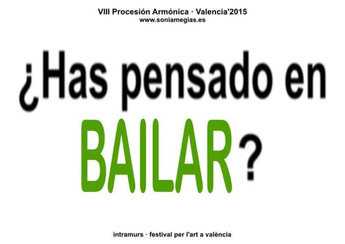 2015'X'31. Valencia. VIII Procesión armónica - pegatina BAILAR
