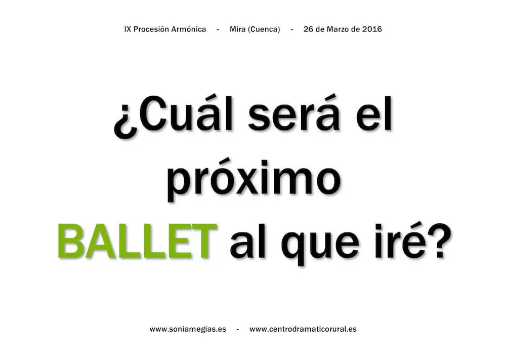 2016'III'26. Mira. IX Procesión armónica - pegatina BALLET