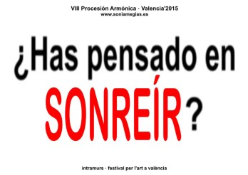 2015'X'31. Valencia. VIII Procesión armónica - pegatina SONREÍR