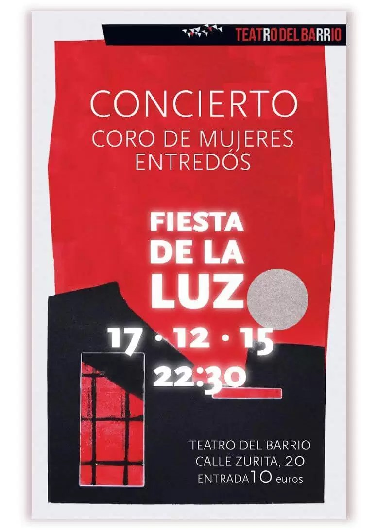 2016'XII'17. Coro Entredós. Fiesta de la luz - cartel