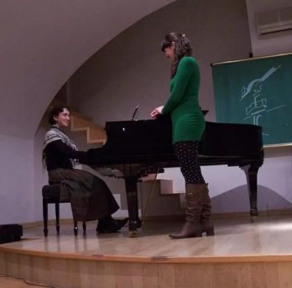 2010'II'25. Conservatorio de Alcalá la Real (Jaén). Grabando 'Procesión' con Laura Moyano