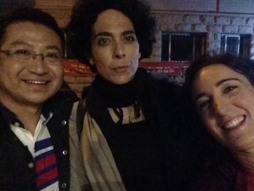 2017'V. Pekín. Dúa de Pel grabando en la CCTV - con Roberto, el presentador
