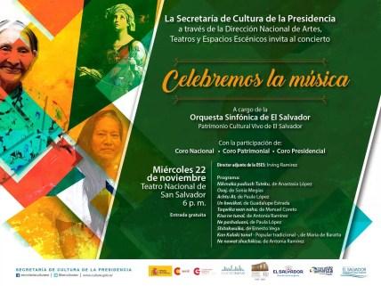2017'XI'22. San Salvador. Concierto con mis arreglos por Santa Cecilia - cartel
