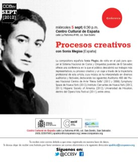 2012 CCE. Charla procesos creativos