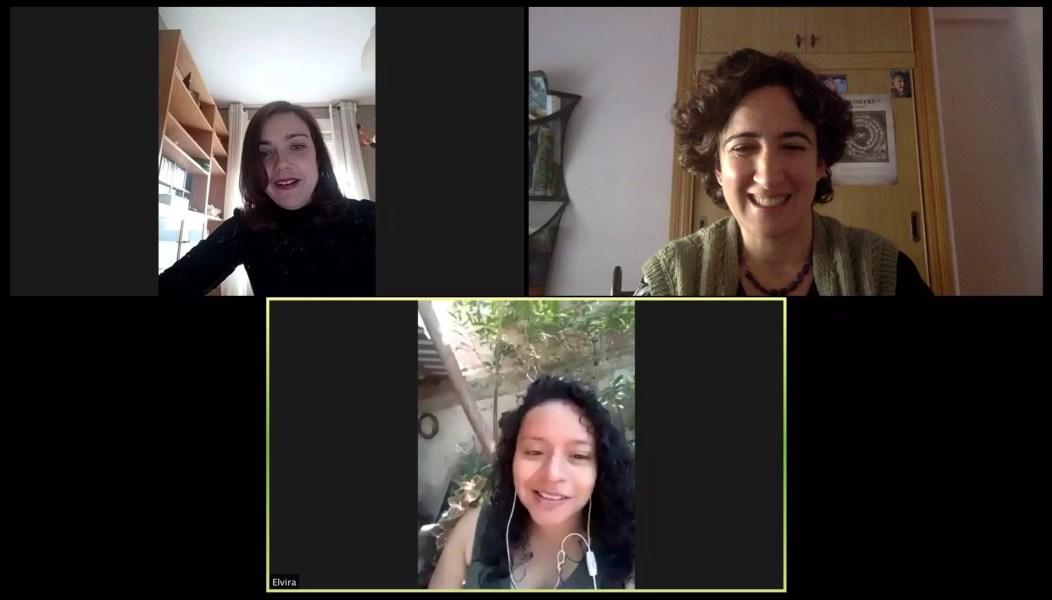 Reunión con Estela Patriz y Paula Álvarez