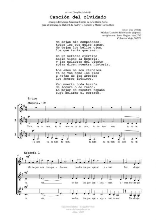 Canción del olvidado (3v)