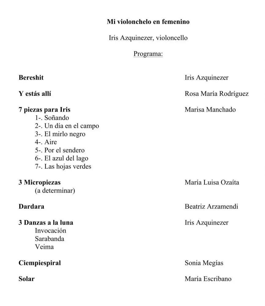 IRIS PROGRAMA Mi violonchelo en femenino
