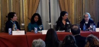 Casa de América, Madrid, 2020. Con Estela Patriz, Beatriz Alcaine y Margarita Marroquín.