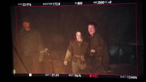 Gendry Waters y Arya Stark (Joe Dempsie y Maisie Williams)