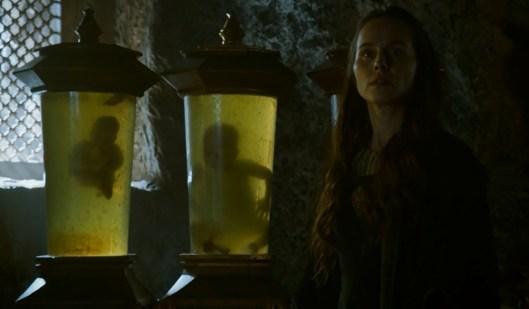 Selyse y algunos de los hijos de Stannis