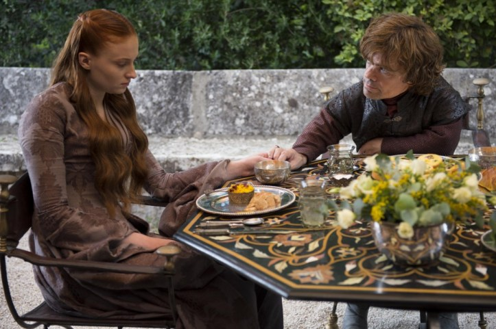 Sansa Stark (Sophie Turner) - Tyrion Lannister (Peter Dinklage)