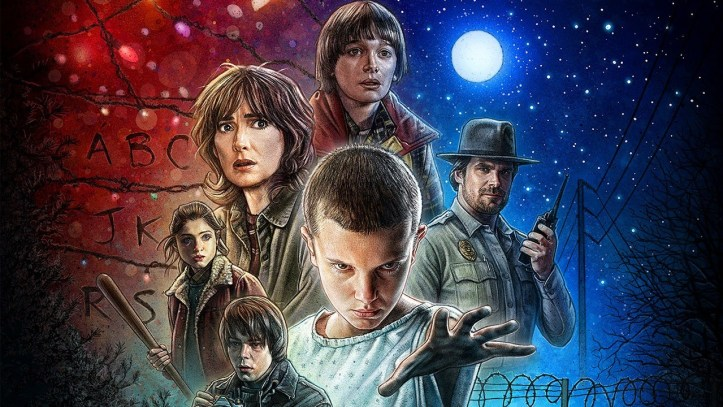 stranger things netflix cast poster
