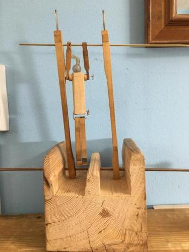 Gymnast with trough base