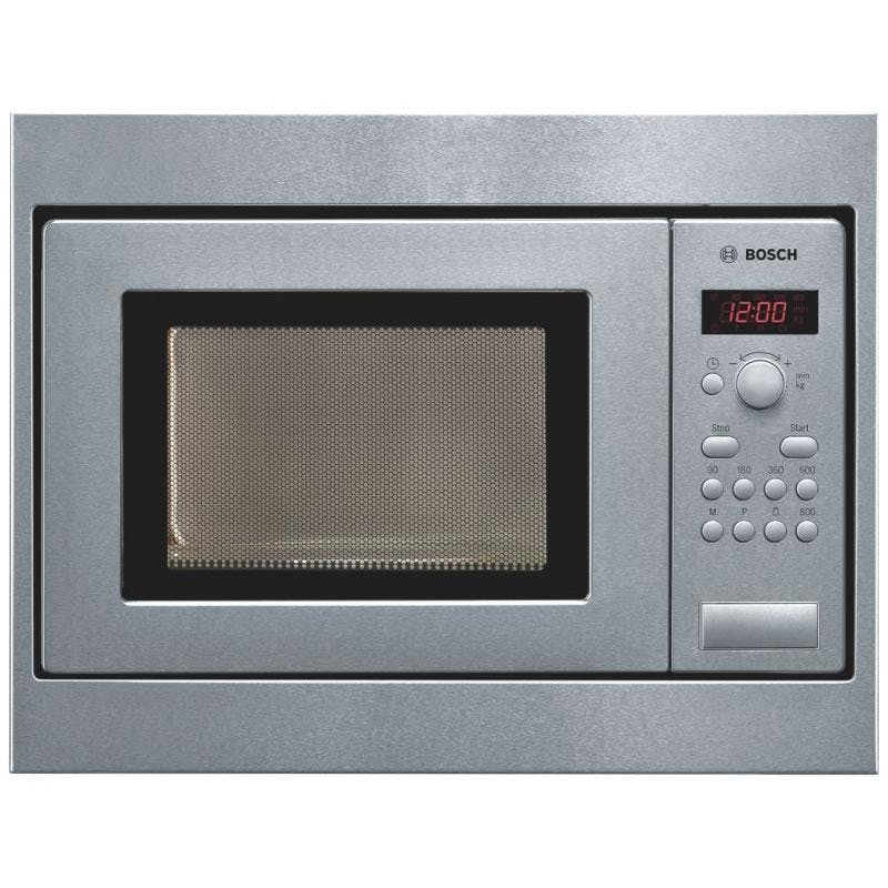 bosch hmt75m551b built in compact microwave oven in brushed steel 800w