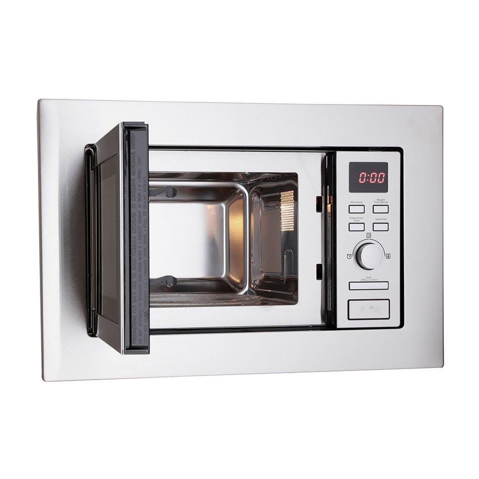 montpellier mwbi17 300 built in slim depth microwave oven in st steel 700w 17l