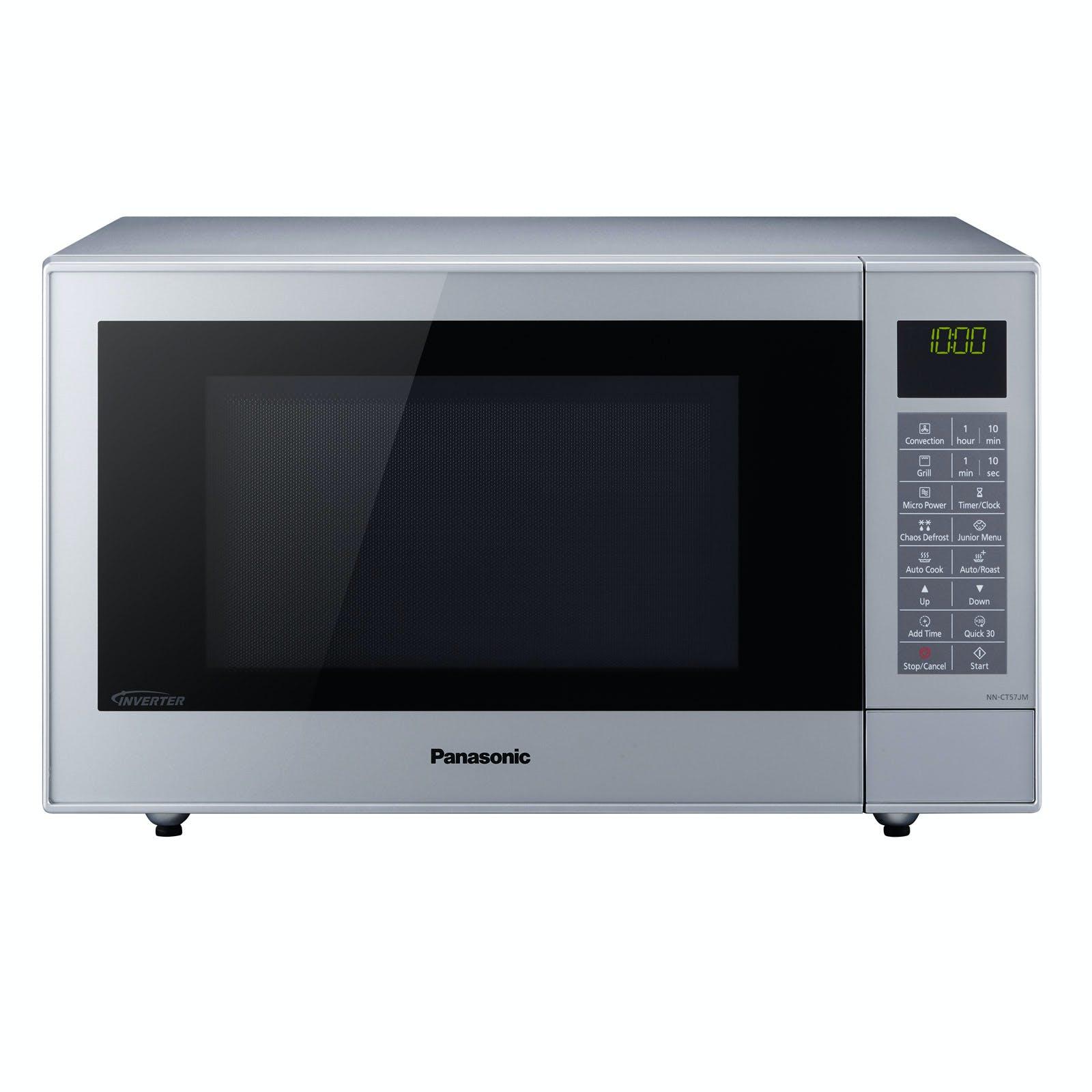 panasonic nn ct57jmbpq combination microwave oven in silver 27 litre 1000w