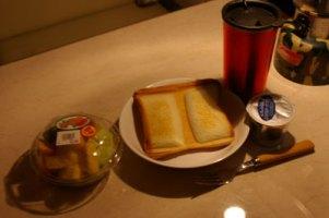 スキー場での朝ご飯