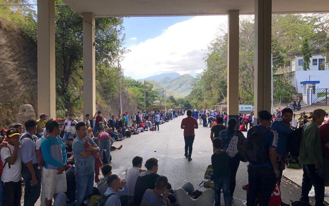 La Caravana del migrante pasa por Guatemala