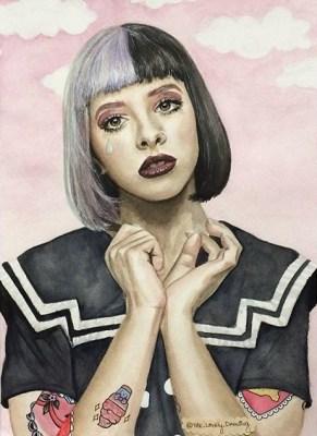 Melanie Martinez, watercolor