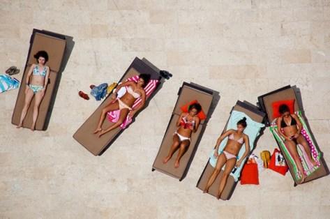 Miami sunbathing